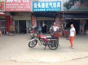 Handcart on Motorcycle